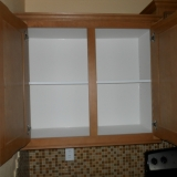 White Lined Overhead Cabinet