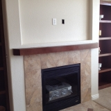 Gas Fireplace with Tile Surround and TV Niche